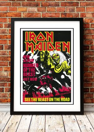Iron Maiden 'Number Of The Beast' In Store Poster 1983