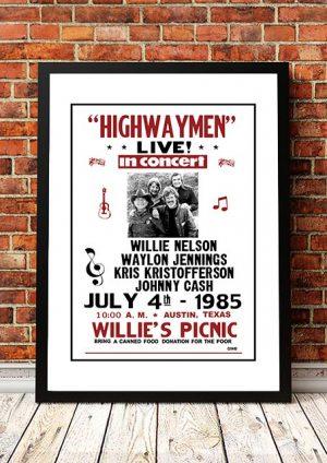 Highwaymen 'Willies Picnic' Texas, USA 1985