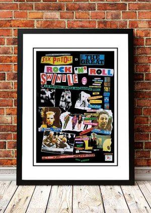 Sex Pistols 'Great Rock N Roll Swindle' In Store Poster 1980