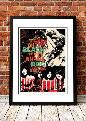 Led Zeppelin 'Black Dog' Poster