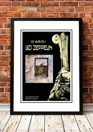 Led Zeppelin 'Led Zeppelin IV' In Store Poster 1971