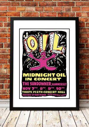 Midnight Oil 'The Sundowner' Perth, Australia 1984