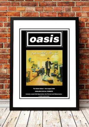 Oasis 'Definitely Maybe' In Store Poster 1994