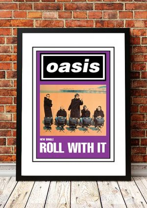 Oasis 'Roll With It' In Store Poster 1995