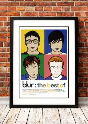 Blur 'Best Of Blur' – In Store Poster 2000