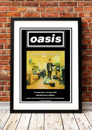 Oasis 'Definitely Maybe' – In Store Poster 1994
