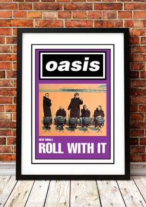 Oasis 'Roll With It' – In Store Poster 1995