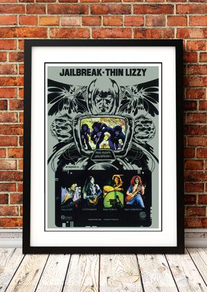 Thin Lizzy 'Jailbreak' – In Store Poster 1976