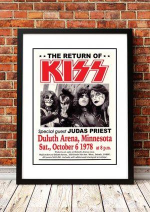 KISS / Judas Priest 'Duluth Arena' Minnesota, USA 1978