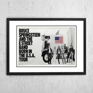 Bruce Springsteen 'Born In The USA' Industry Promotional Poster 1985