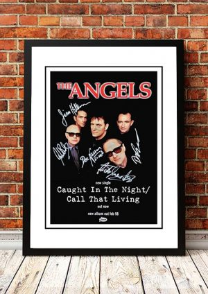 Angels (Angel City) 'Caught In The Night / Call That Living' In Store Poster 1998