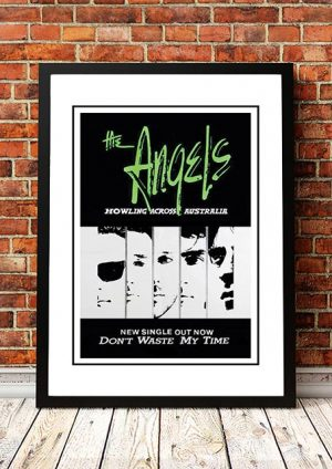 Angels (Angel City) 'Don't Waste My Time' In Store Poster 1986