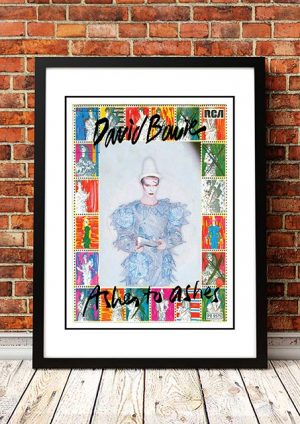 David Bowie 'Ashes To Ashes' In Store Poster 1980