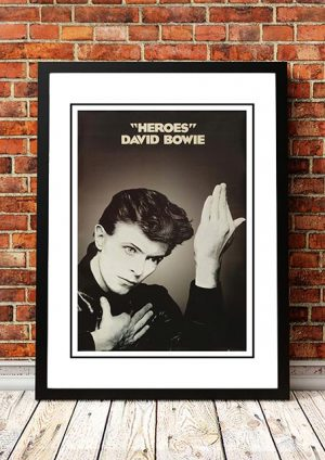 David Bowie 'Heroes' In Store Poster 1983
