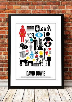 David Bowie 'Word Art' Print