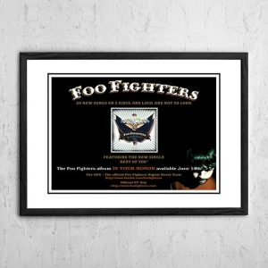 Foo Fighters 'In Your Honour' In Store Poster 2005
