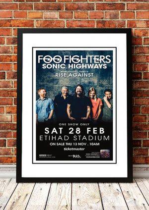 Foo Fighters / Rise Against 'Etihad Stadium' Melbourne, Australia 2015