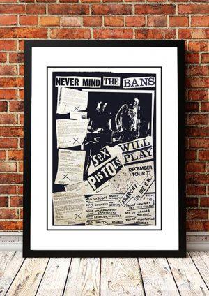 Sex Pistols 'Never Mind The Bans' Tour Poster 1977