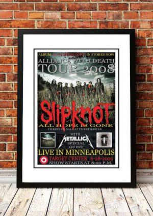 Slipknot / Metallica 'Target Center' Minneapolis, USA 2009