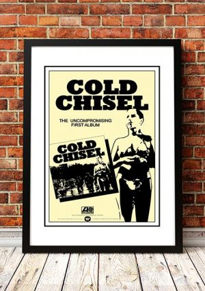 Cold Chisel 'Self Titled Debut Album' In Store Poster 1978