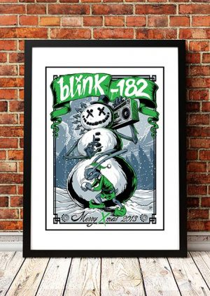 Blink 182 'Merry Xmas' Poster Art