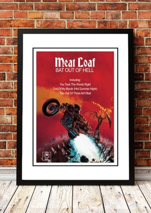 Meatloaf 'Bat Out Of Hell' In Store Poster 1977