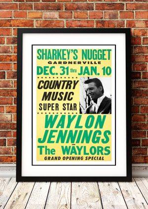 Waylon Jennings 'Sharkey's Nugget' Gardnerville, USA 1971