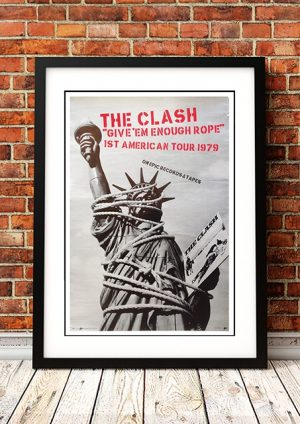 The Clash 'Give 'Em Enough Rope' American Tour 1979