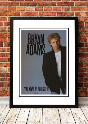 Bryan Adams 'You Got It, You Want It' In Store Poster 1981
