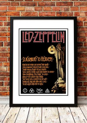 Led Zeppelin 'Stairway To Heaven' In Store Poster 1971