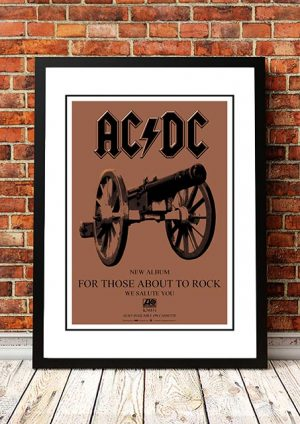 AC/DC 'For Those About To Rock' In Store Poster 1981