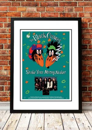 The Black Crowes 'Shake Your Money Maker' In Store Poster 1990
