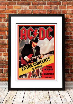 AC/DC 'Australian Tour' Poster 1991
