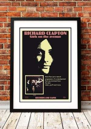 Richard Clapton 'Girls On The Avenue' In Store Poster 1975