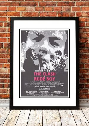 The Clash 'Rude Boy' Movie Poster 1980
