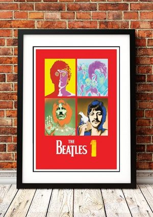 Beatles '1' In Store Poster 2000