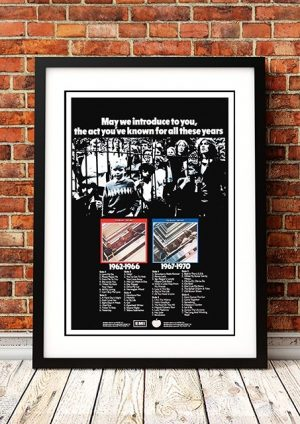Beatles '1962-67/1967-70' In Store Poster 1973