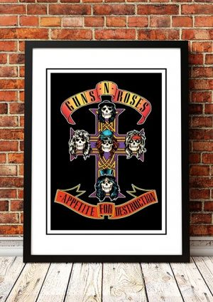 Guns N' Roses 'Appetite For Destruction' In Store Poster 1987