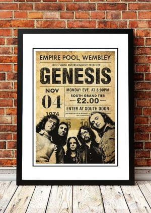 Genesis 'Empire Pool' Wembley, London 1974