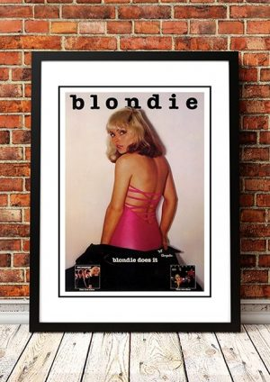 Blondie 'Plastic Letters' In Store Poster USA 1977