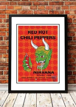 Red Hot Chili Peppers / Nirvana / Pearl Jam 'Cow Palace' USA 1991