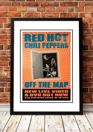 Red Hot Chili Peppers 'Off The Map' In Store Poster 2001