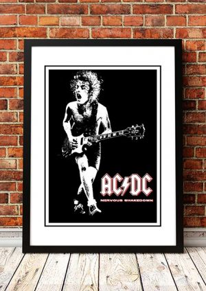 AC/DC 'Nervous Shakedown' In Store Poster 1983