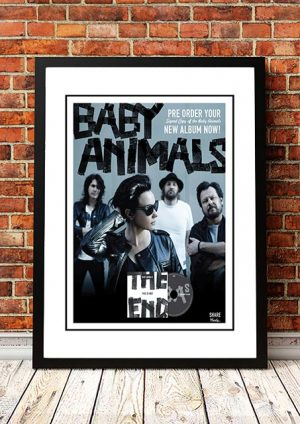 Baby Animals 'This Is Not The End' In Store Poster 2013