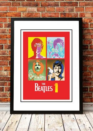 The Beatles '1' In Store Poster 2000