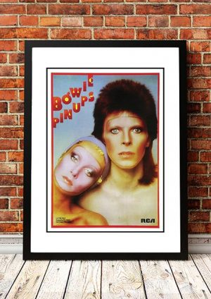 David Bowie 'Pin Ups' In Store Poster 1973