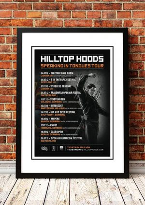 Hilltop Hoods 'Speaking In Tongues' Tour Poster 2012