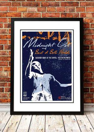 Midnight Oil 'Best Of Both Worlds' Movie Poster 2004