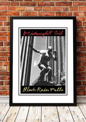 Midnight Oil 'Black Rain Falls' In Store Poster 1990