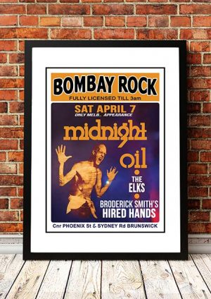 Midnight Oil 'Bombay Rock' Concert Poster 1979